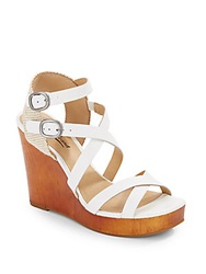 Lucky Brand Lahoya Leather Wedge Sandals