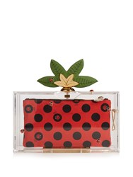 Charlotte Olympia Lucky Pandora Perspex Clutch Clear