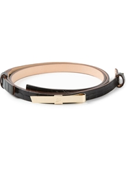 Dsquared2 Moc Croc Skinny Belt Black