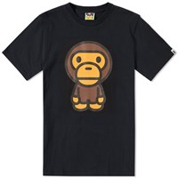 A Bathing Ape Big Baby Milo Tee Black