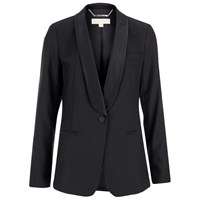 Michael Michael Kors Women's Shawl Collar Tux Blazer Black