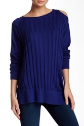 Planet Peek A Boo Shoulder Sweater Blue