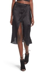 For Love And Lemons Women's Gabriella Button Up Midi Skirt