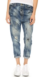 The Great. The Mister Slouchy Boyfriend Jeans Worn Paint Wash