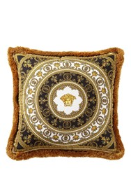 Versace I Heart Baroque Silk Accent Pillow Multicolor