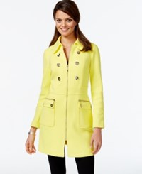 Inc International Concepts Petite Embellished Trench Coat Only At Macy's Sunray Yellow