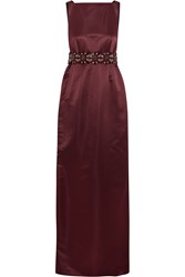 Raoul Zahra Embellished Satin Gown