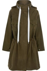 Rag And Bone Voltaire Oversized Cotton Blend Twill Canvas Trench Coat Army Green