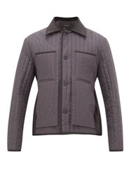 Craig Green Quilted Panel Shell Jacket Grey