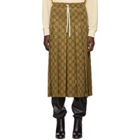 Gucci Beige Gg Pleated Skirt