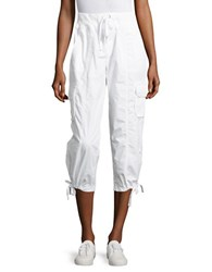 Calvin Klein Cropped Cargo Pants White