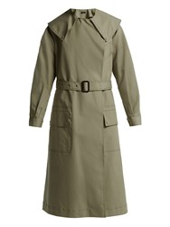Joseph Damon Cotton Gabardine Trench Coat Khaki