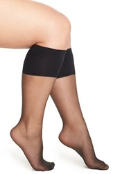 Plus Size Women's Berkshire Sheer Knee Highs Black Fantasy Black