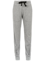 Andrea Bogosian Side Stripe Joggers Grey