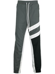 God's Masterful Children Striped Track Trousers Grey