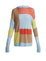 House Of Holland Patchwork Hooded Wool Blend Sweater Multi