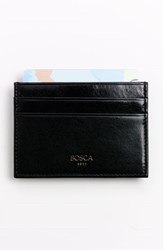 Men's Bosca 'Old Leather' Front Pocket Wallet Black