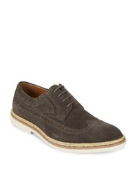 Kenneth Cole Reaction Long Wing Brogue Leather Derbys Grey