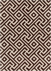 Chandra Davin Hand Tufted Rectangle Contemporary Rug Brown