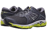 Mizuno Wave Sky Gray Stone Silver Lime Punch Running Shoes