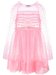Molly Goddard Funky Tulle Mini Dress Pink And Purple