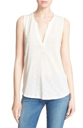 Women's Soft Joie 'Mikal' Split Neck Sleeveless Top Porcelain