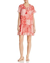 Beltaine Printed Peasant Dress Red