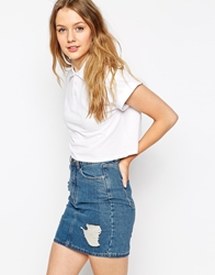 Bellfield Cropped Polo Top White