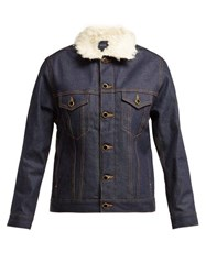 Khaite Cate Faux Shearling Denim Jacket Denim
