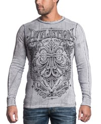 Affliction Reversible Thermal Corroded Long Sleeve Shirt