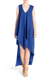 Women's Adelyn Rae Ruffle High Low Dress Electric Blue