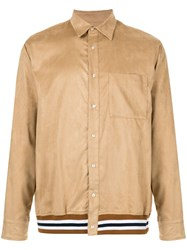 Loveless Ribbed Trim Shirt Neutrals