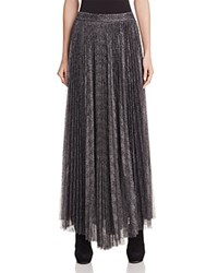 Alice Olivia Katz Accordion Pleat Maxi Skirt Gunmetal
