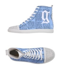 Galliano High Tops And Trainers Sky Blue