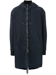 Juun.J Long Denim Jacket Black