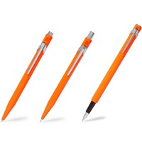 Caran D'ache 849 Fountain Pen Ballpoint Pen And Mechanical Pencil Gift Set Orange
