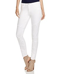 Elie Tahari Azella Frayed Patchwork Skinny Jeans In Optic White