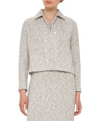 Akris Hadow Boucle Tweed Jacket Black White Black White