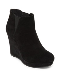 Jessica Simpson Cavanah Suede Leather Wedge Booties Black