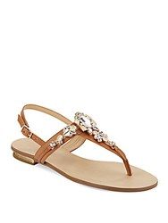 Ivanka Trump Felix Leather Thong Sandals Brown