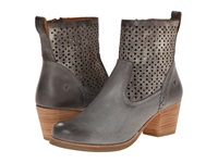 Trask Paige Charcoal Italian Calfskin Pewter Metallic Suede Women's Wedge Shoes Gray