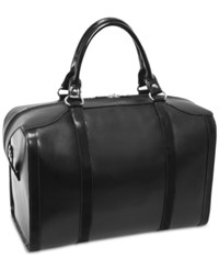 Mcklein Throop 18 Travel Leather Duffel Bag Black