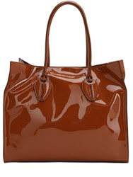 Tod's Patent Leather Tote Bag Brick