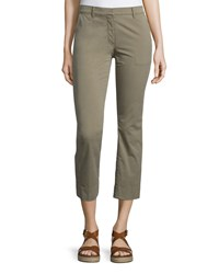 Theory Avla New Chino Slim Fit Pants Women's Size 6 Green