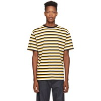 Saturdays Surf Nyc Yellow And Black Skeleton T Shirt