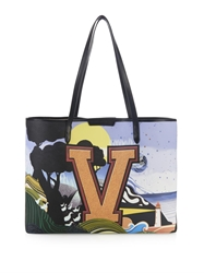 Mary Katrantzou V Melina Coated Canvas Tote