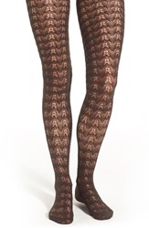 Women's Nordstrom Open Knit Sweater Tights Brown