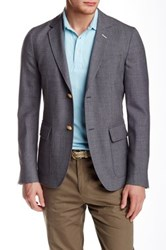 Gant The Hopsack Wool Sport Coat Gray