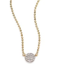 Phillips House Affair Diamond And 14K Yellow Gold Beaded Infinity Necklace