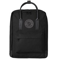 Fjall Raven Fjallraven Kanken 2 Leather Trim Backpack Black